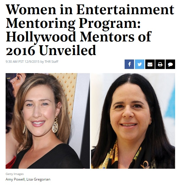Hollywood Mentors Announced
